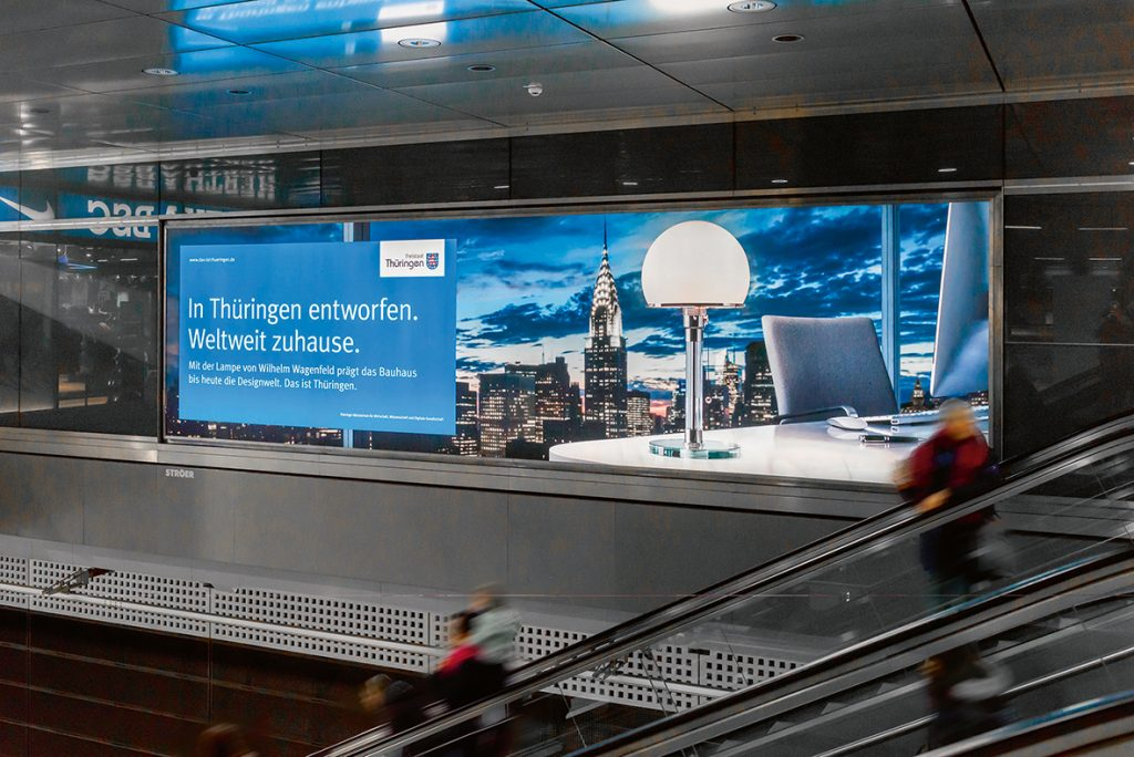Medienboard Landeskampagne Thüringen, Hauptbahnhof Berlin, 2018. © Foto: Christoph Petras