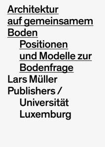 Florian Hertweck (Hrsg.): Architektur auf gemeinsamem Boden, Cover