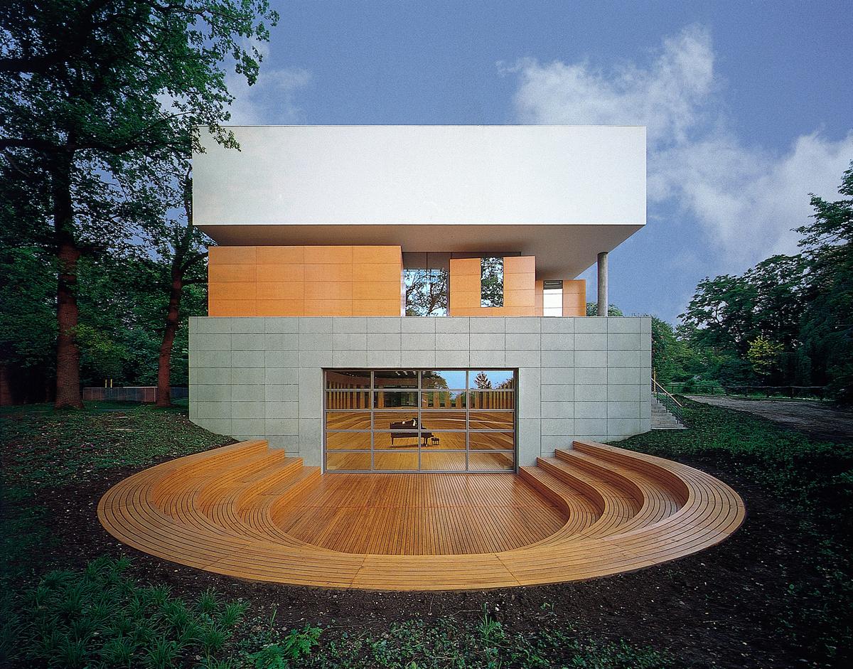 smo architekten / Thomas van den Valentyn, Musikgymnasium Belvedere, Weimar 1993–1995, Foto: Rainer Mader