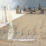 Hannsjörg Voth, Stadt des Orion, 2000, Mischtechnik auf Transparentpapier, 61 x 87,5cm, © VG Bild-Kunst, Bonn 2020