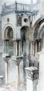 John Ruskin, Zeichnung des Markusdoms, Venedig, ca. 1851