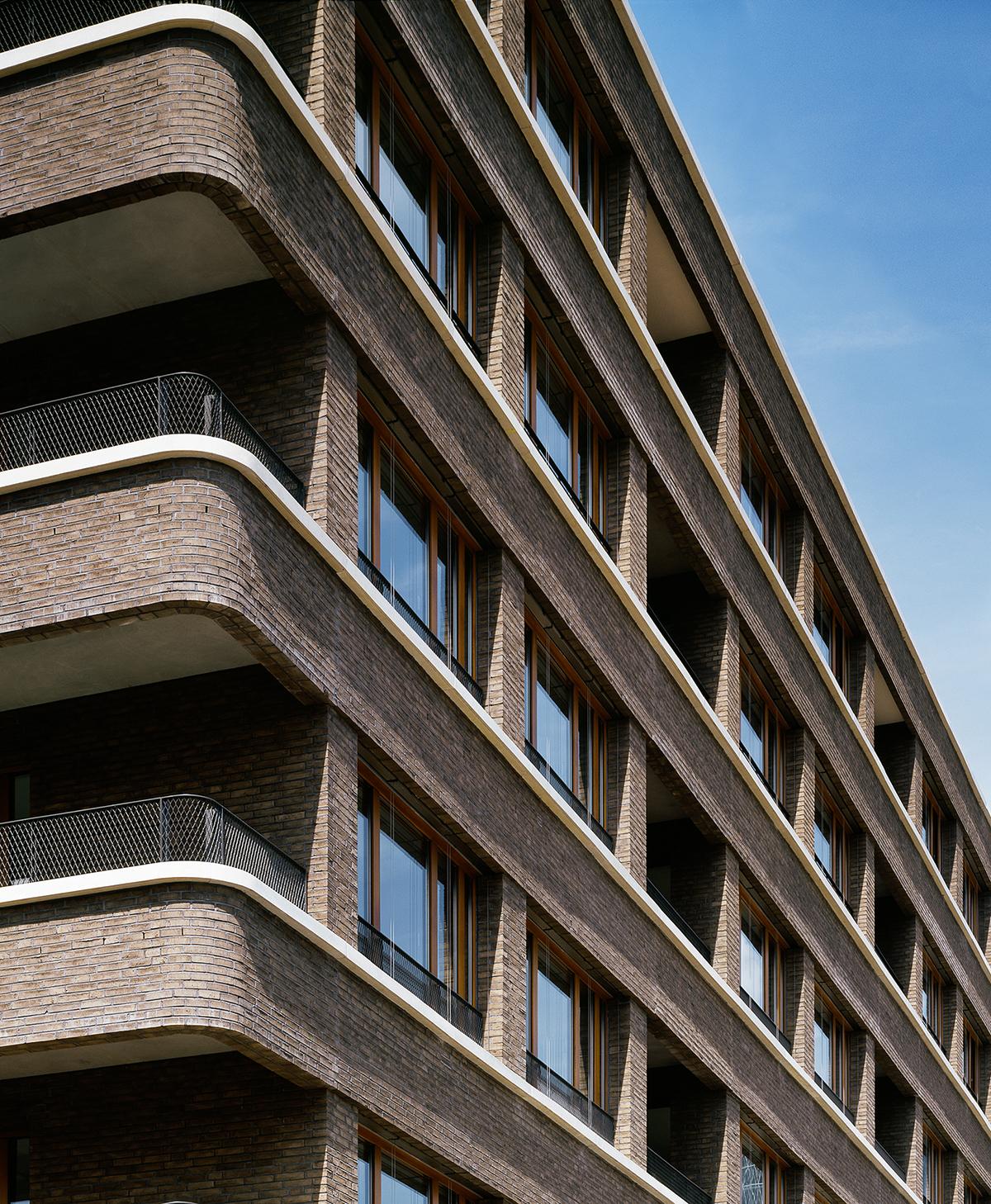 Westgarten 01. Fassadenansicht an der Ecke Zanderstrasse / Speicherstrasse, Foto: Jean-Luc Valentin