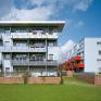 Leinefelde Haus 03. Blick von Südosten auf Haus 02 (links) und Haus 04 (rechts), Foto: Jean-Luc Valentin