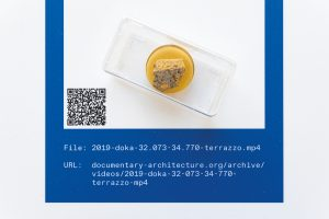 "Centre for Documentary Architecture, Ausstellung ""The Matter of Data"", Bauhaus-Museum, Weimar, White City Center, Tel Aviv (2019), Architektur Galerie Berlin (2020), Materialprobe , Foto: CDA, Ortrun Bargholz"