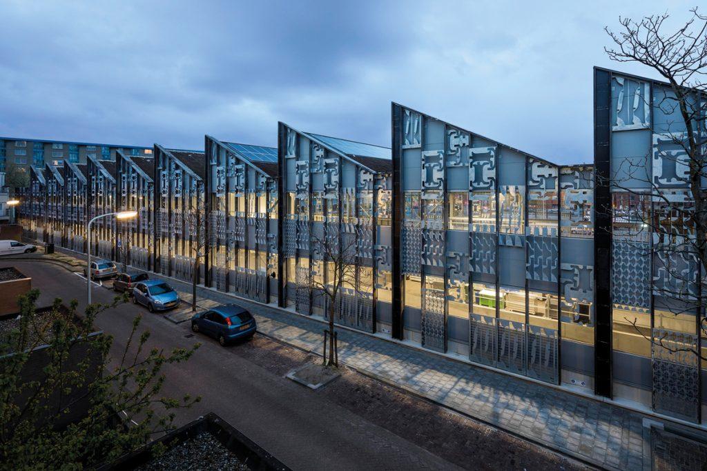 Wessel van Geffen Architecten/Superuse, Afvalbrengstation, Den Haag, Niederlande 2017, Foto: Scagliola Brakkee