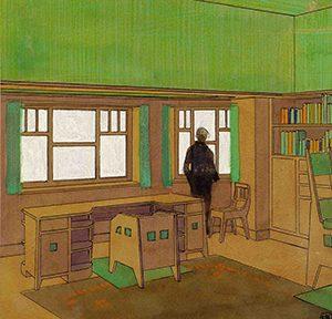 Entwurf eines Herrenzimmers, Kirchner, Foto: Galerie Henze & Ketterer & Triebold, Riehen/Basel und Wichtrach/Bern