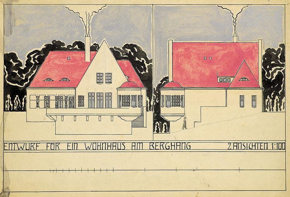 Entwurf eines Wohnhauses, Kirchner, Foto: Galerie Henze & Ketterer & Triebold, Riehen/Basel und Wichtrach/Bern.