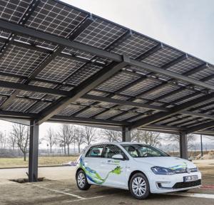 Photovoltaik zur Überdachung von Parkplatzflächen