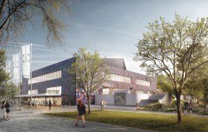 soll sasse architekten BDA, Neugestaltung der Fassade der Stadthalle Göttingen, seit 2018: Entwurf, Abb.: soll sasse