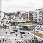 """Ein """"Verteiler"""": Nørre COBE, Voldgade und Nørreport Station, Kopenhagen 2015, Foto: Rasmus Hjortshøj - COAST"""