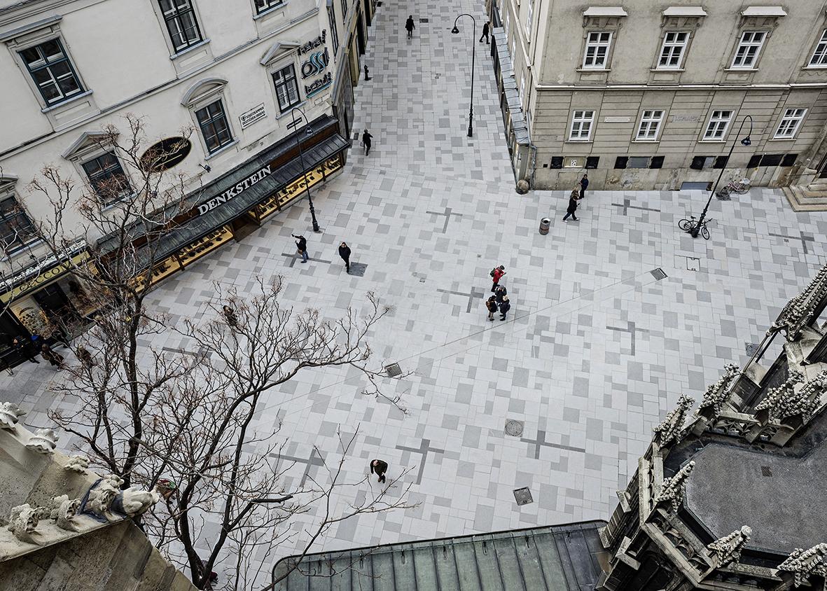 """Clemens Kirsch Architektur mit Gerhard Nestler, ein """"Vermittler"""": Stephansplatz, Wien 2017, FCP, Foto: Hertha Hurnaus"""