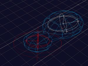Bernhard Franken mit ABB Architekten, Bollinger + Grohmann Ingenieure, BMW Bubble, 1991–1999, finale Mastergeometrie in Wavefront Explorer, Abb.: Franken Architekten