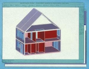 CAD-Zeichnung, Sammlung Richard Junge, Abb.: Architekturmuseum der TUM