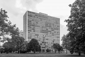 Ludwig Mies van der Rohe/Ludwig Hilberseimer/Alfred Caldwell, Lafayette Park, Detroit, Michigan, USA 1959, Foto: Fernando Schapochnik