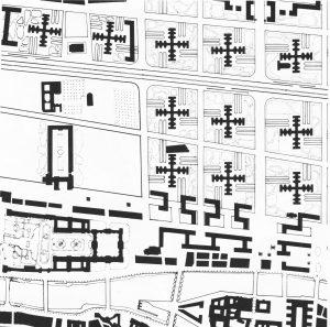 Le Corbusier, Plan Voisin, Paris 1922–1925, Massenplan