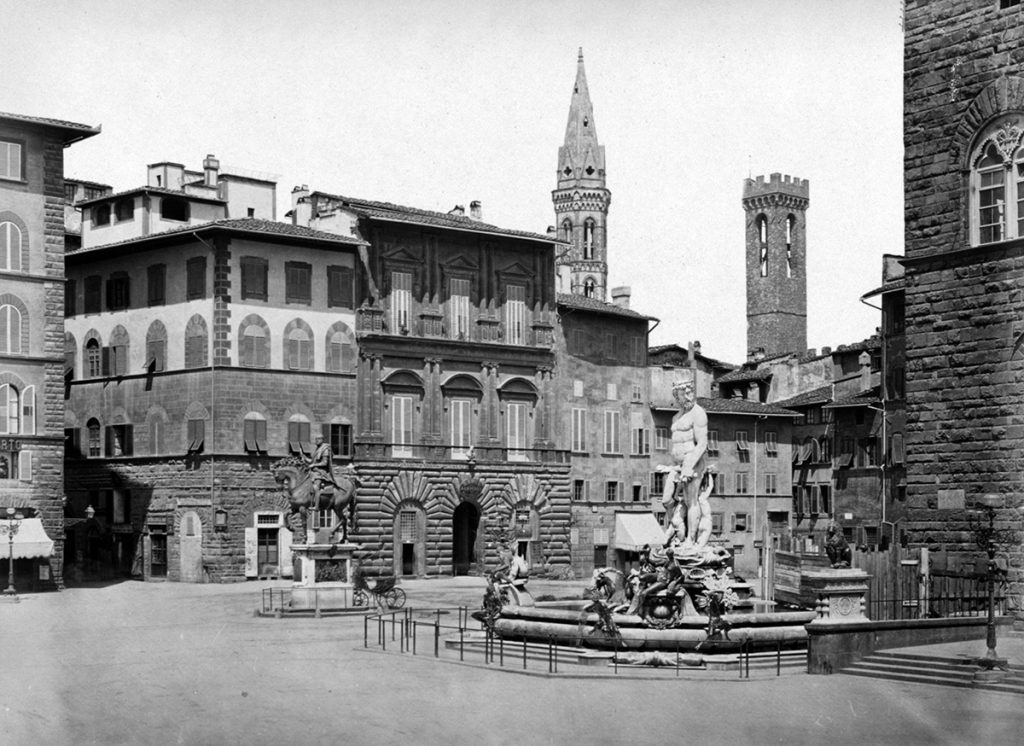 Piazza della Signoria, Florenz, Foto (um 1870): Bibliotheca Hertziana – Max-Planck-Institut für Kunstgeschichte, Rom
