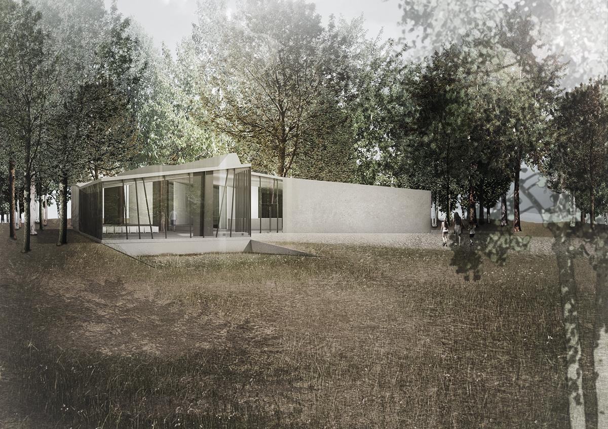 complizen Architektur, Gedenkstätte Isenschnibbe, Wettbewerbsbeitrag 2016 (2.Preis), Abb.: complizen