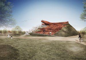 complizen Architektur, Kreisgrabenanlage Zackmünde, Wettbewerbsbeitrag 2014 (2.Platz), Abb.: complizen