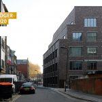 """Witherford Watson Mann Architects, """"Brickfields"""" Business Centre, London, Großbritannien 2019, Foto: David Grandorge"""