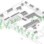 Lageplan-Isometrie der Evangelischen Schule Dettmannsdorf, Zeichnung: mrschmidt