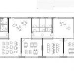 mrschmidt Architekten, Neubau Grundschule, Evangelische Schule Dettmannsdorf, Grundriss Obergeschoss, Dettmannsdorf 2015–2017, Zeichnung: mrschmidt