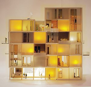 Fallstudie: Arrival City 4.0 Modell des Bausystems im Maßstab 1/50, Abb.: Hans Drexler