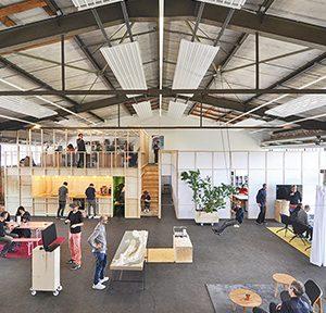 asdfg Architekten/ STLH Architekten, PRO Proberaum Oberhafen – Offene Werkstatt für Architektur, Hamburg, seit 2019, Foto: asdfg/Proberaum